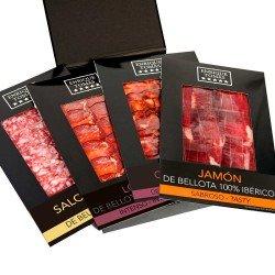 Jambon 100% Ibérique au Gland - Pata Negra - Boîte Recommandée de Produits Ibériques