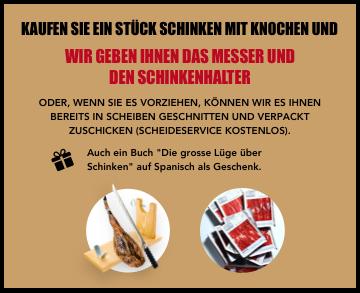 Schinkenständer + Messer als Geschenk | KOSTENLOSER Schneideservice