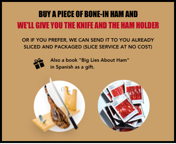 Ham stand + knife as a gift | FREE cutting service