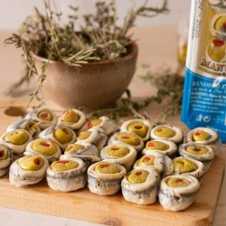 Banderillas: Anchovies with Green Olives (1,71Kg / 3,77lb) Olives & Spanish Canned
